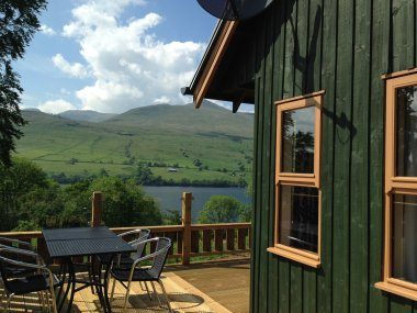 March/April Discounts: Stunning Views over Loch Tay and Ben Lawers at Bracken Lodges, Loch Tay